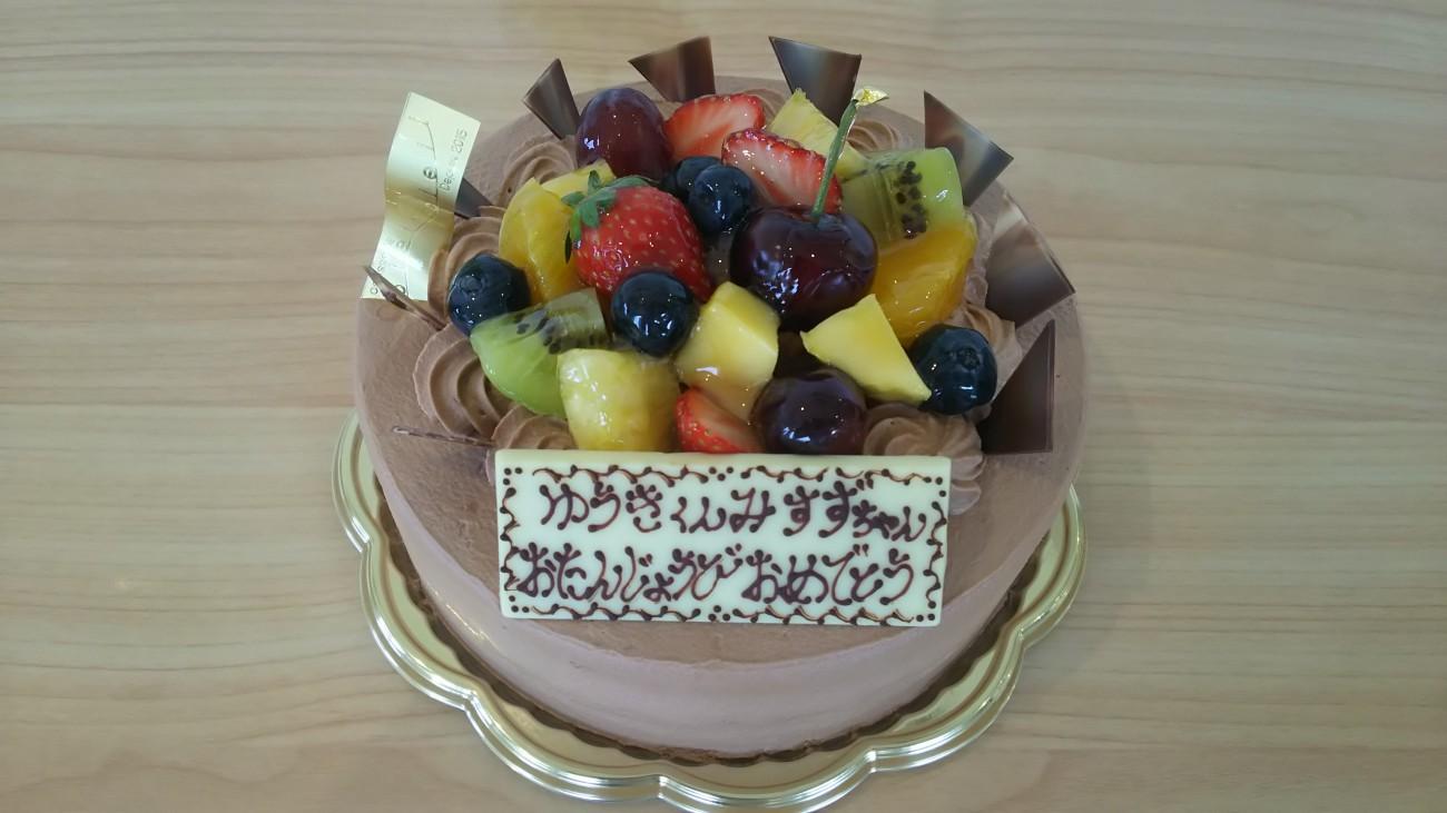 チョコレートのフルーツショート